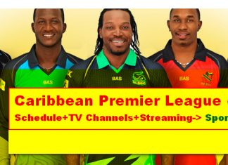 Caribbean Premier League 2018 Live TV Channels List