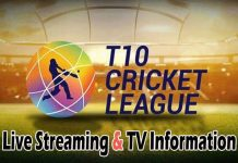 T10 League 2018 Live Streaming Online & TV Channel