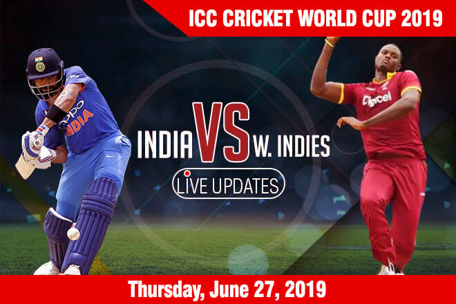 West Indies vs India - Thursday, June 27, ICC Cricket World Cup 2019 Schedule